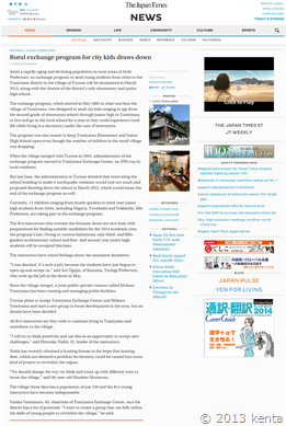 131003Rural exchange program for city kids draws down   The Japan Times