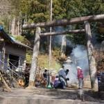 境内掃除と消防団名古屋送別会
