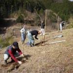 植樹と上黒川区民祭と武田研壮行会