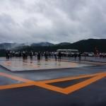 豊根村ヘリポート竣工式