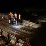 夜のヤナで鮎と鰻