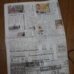 新聞紙面の半分を支配