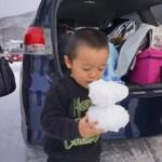 家族スキー1日目北志賀