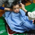 プロによる息子散髪