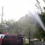 消防団ポンプ点検