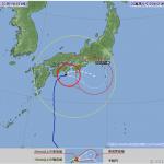 台風6号接近中