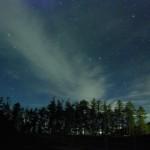 星空をまたぐ雲
