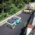舗装工事から急遽浜松