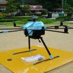 豊根小中学校でドローンによる航空写真&レーザー測量