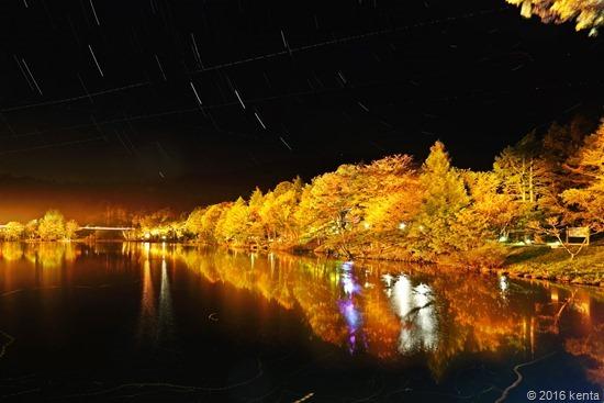 161007茶臼山高原紅葉ライトアップa