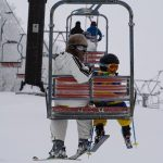 息子7歳の誕生日は茶臼山でスキー