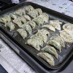 手作り餃子夕食