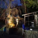 上黒川熊野神社ライトアップ準備2017