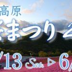 明日から茶臼山高原芝桜まつり2017