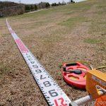 茶臼山高原でなんと気持ちいい測量か