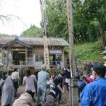 上黒川熊野神社秋祭りとお茶の剪定作業