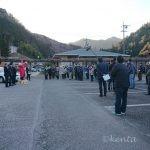 天龍村経由で富山地区へ消防団ポンプ点検