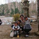 消防団役員による管内地理実査(妻は新入園児祈祷@熊野神社)