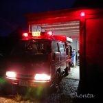 台風10号接近で消防団巡回から武田先生宅へ