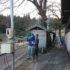 上黒川区エボリューションによる熊野神社さくらのライトアップ準備