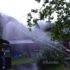 小雨の消防団ポンプ点検